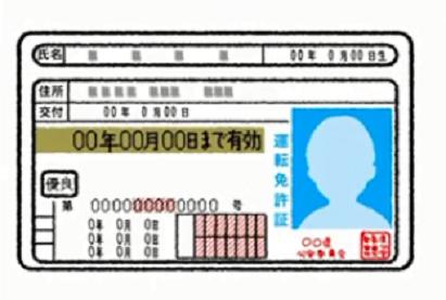 免許証 表